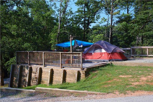 list campgrounds near dawsonville georgia