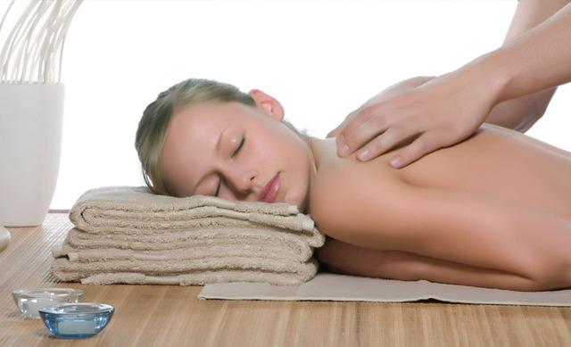 Back massage at Calistoga Spa.