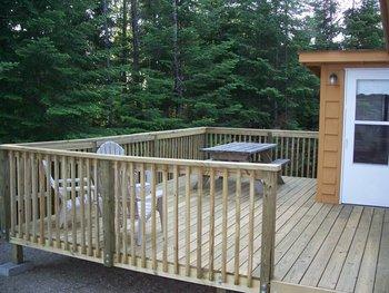 Deck view at Northern Lights Lodge & Resort.