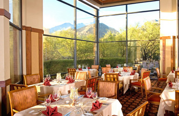 Dining at The Lodge at Ventana Canyon.