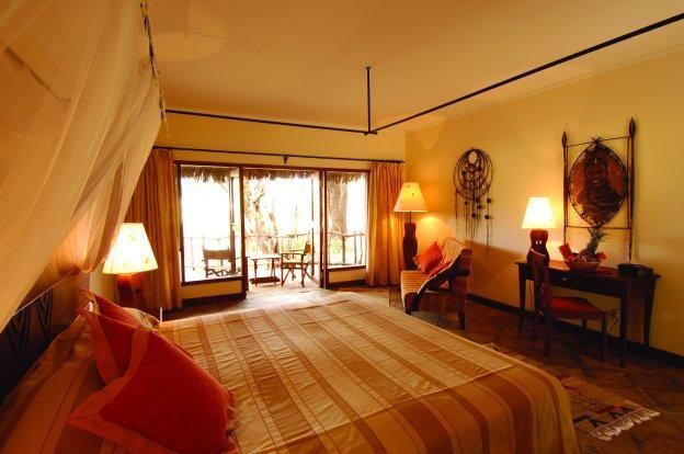 Guest room at Samburu Game Reserve.