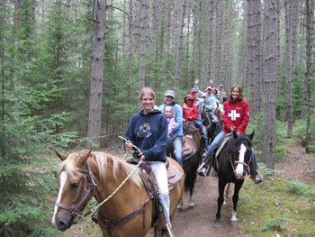 Trail Ride at Holiday Acres Resort