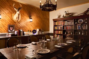 Dining at Fairmont Le Manoir Richelieu.