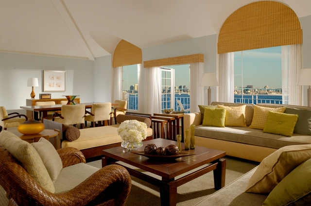 Suite interior at Loews Coronado Bay Resort.