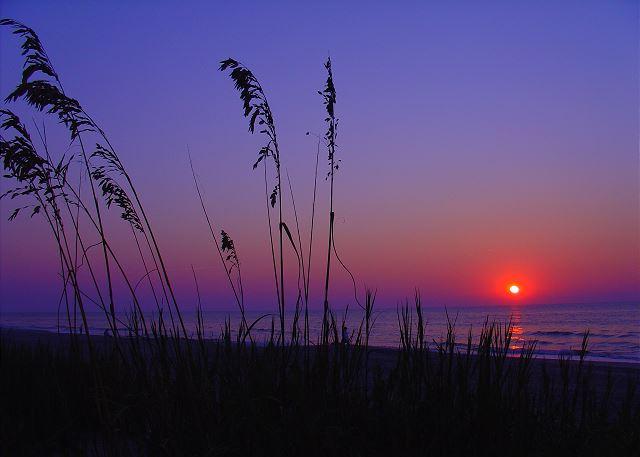 Sunset at North Beach Realty.