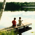 Kids Fishing at Mountain Springs Lake Resort 