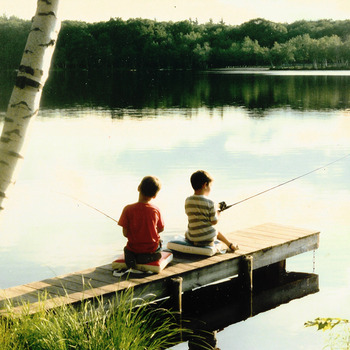 Kids fishing at Mountain Springs Lake Resort.