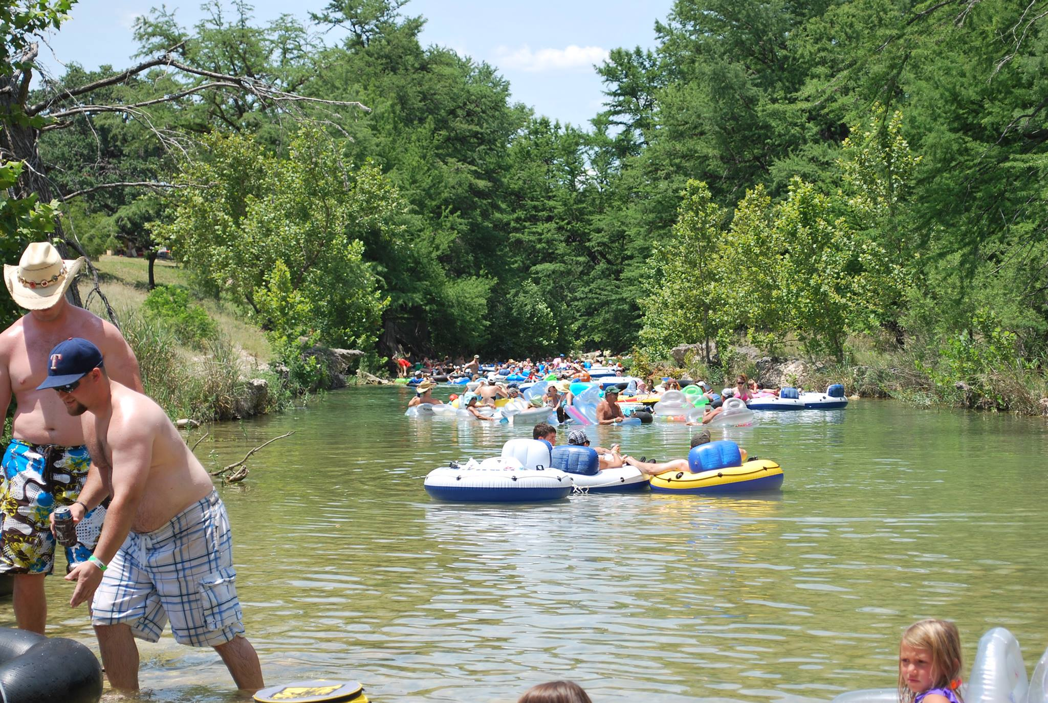 River tubers at Criders Frio River Resort.