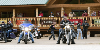 Biker group at Buffalo Outdoor Center.