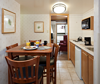 Guest kitchen at Charlton's Cedar Court.