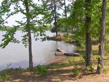 Fishing dock at Yogi on the Lake.