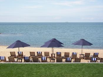 The beach at Madison Beach Hotel.