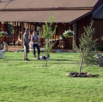 Outdoor activities at Cottonwood Meadow Lodge.