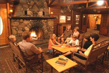 Game activities at Ruttger's Bay Lake Lodge.