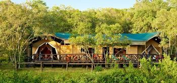 Exterior view of Fairmont Mara Safari Club.