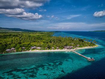 Aerial view of Wakatobi Dive Resort.