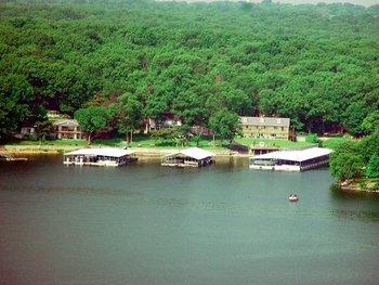 Exterior view of Paradise Cove Marine Resort.