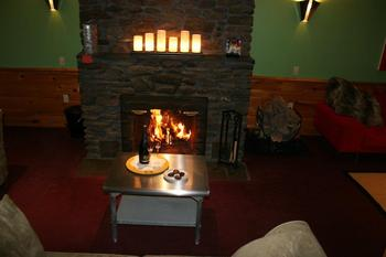 Fireplace at The Arbor Inn.