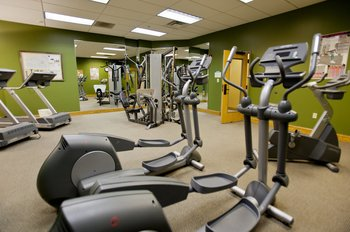 Fitness center at Holiday Inn Club Vacations Smoky Mountain Resort.