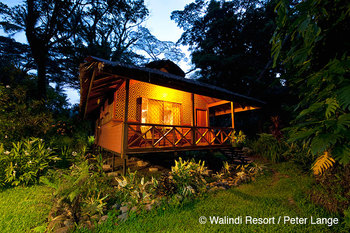 Exterior view of Walindi Plantation Resort.