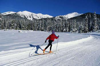 Skiing at Tahoma Lodge.