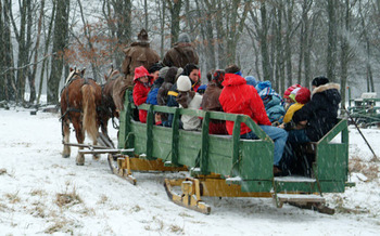 Sleigh ride at The Inn at Pocono Manor.