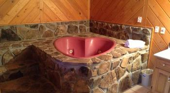 Heart shaped jacuzzi at The Heidi Motel.