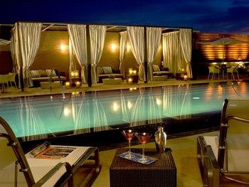 Outdoor pool at Hotel Palomar.