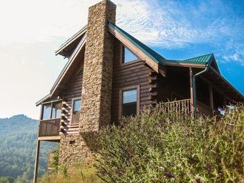 Cabin exterior at Eagles Ridge Resort.