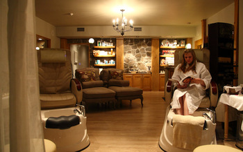 The spa at Elmhirst's Resort.