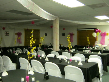 Wedding reception at The Fisherman's Lodge.