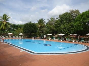 Outdoor pool at Tamarind Tree hotel.
