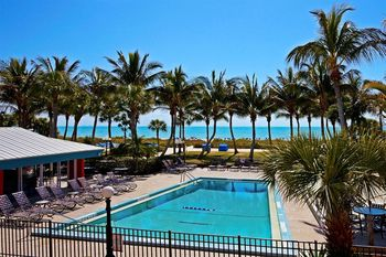 Outdoor pool at Holiday Inn Beach Resort Sanibel Island.