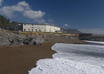 The beach at Adobe Resort.