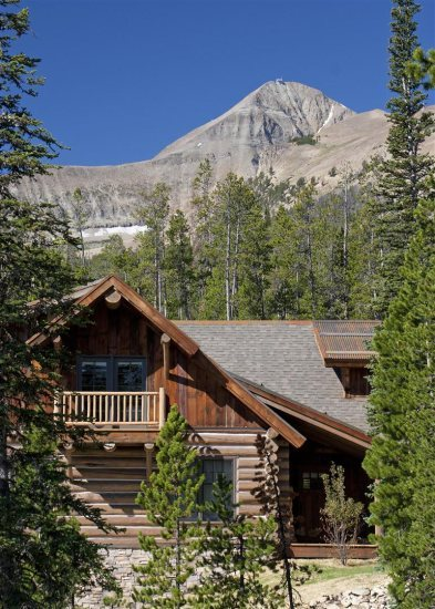 Big sky vacation rentals cabin powder ridge 5 bedroom for Big sky cabin rentals