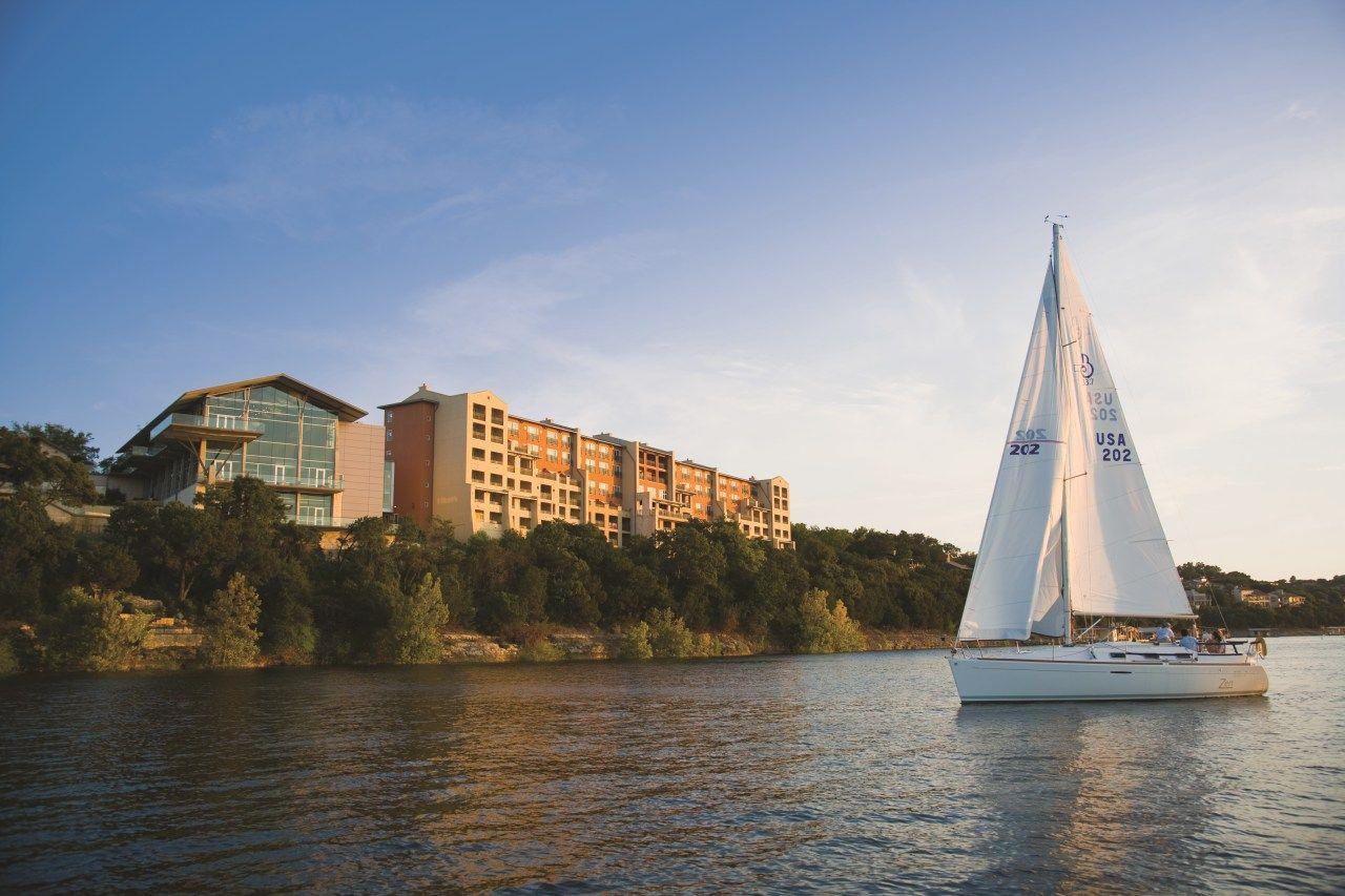 Sail boat at Lakeway Resort and Spa.