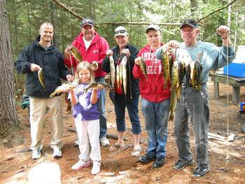 Fishing at Marten River Lodge.