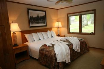 Guest room at Chanticleer Inn.