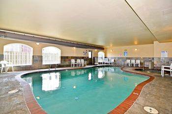 Indoor Pool at Rivertide Suites Hotel