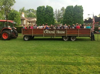 Hayrides at Central House Family Resort.