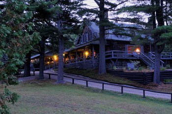 Main lodge at Elk Lake Lodge.