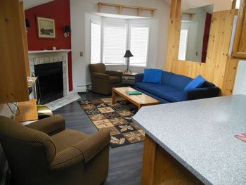 Vacation rental living room at Killington Accommodations.