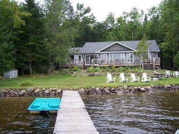 Cottage exterior at All-Season Cottage Rentals.