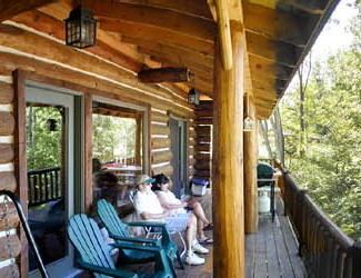 Deck view from Sleeping Bear Resort.
