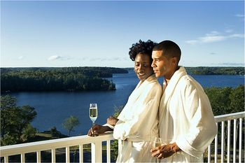 Balcony view at JW Marriott The Rosseau Muskoka Resort & Spa