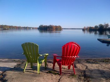 Lounging by the lake at Christie's Mill Inn & Spa.