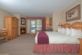 Guest room at The Inn at Jackson Hole.