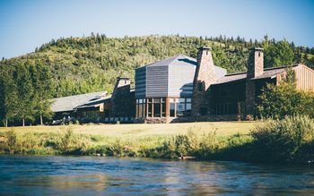 Exterior view of South Fork Lodge.