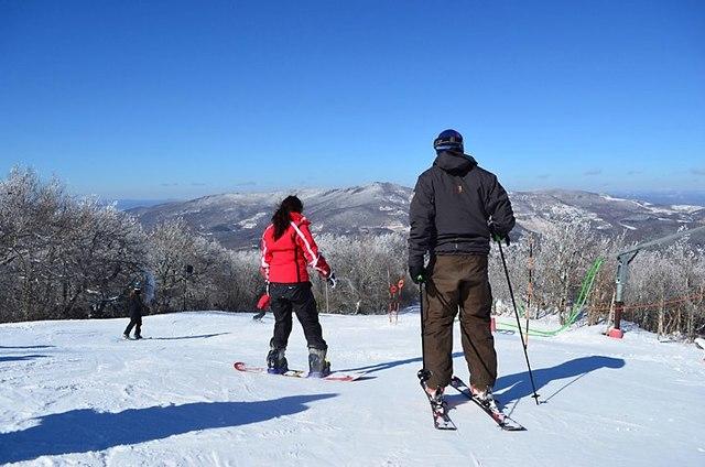 Skiing at Sugar Ski and Country Club.