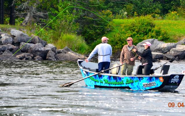 Boating at Wilsons On Moosehead Lake.